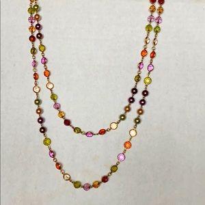 """Premiere Design 65"""" faux pearl rhinestone necklace"""
